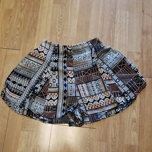 MinkPink mixed print flowy high rise shorts XS